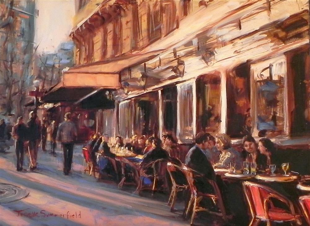 """Cafe in Montmartre"" original fine art by Jonelle Summerfield"