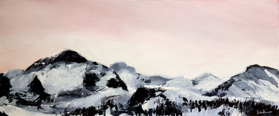 """2125 Mountain View 3"" original fine art by Dietmar Stiller"