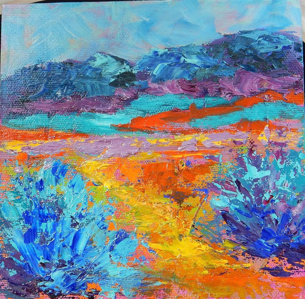 """Desert Nightfall"" original fine art by Phyllis Davis"