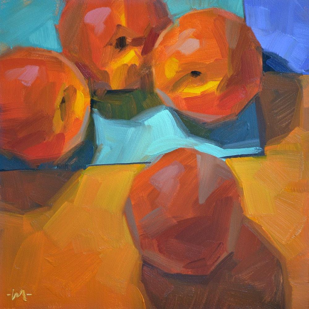 """""""Peach Intervention"""" original fine art by Carol Marine"""