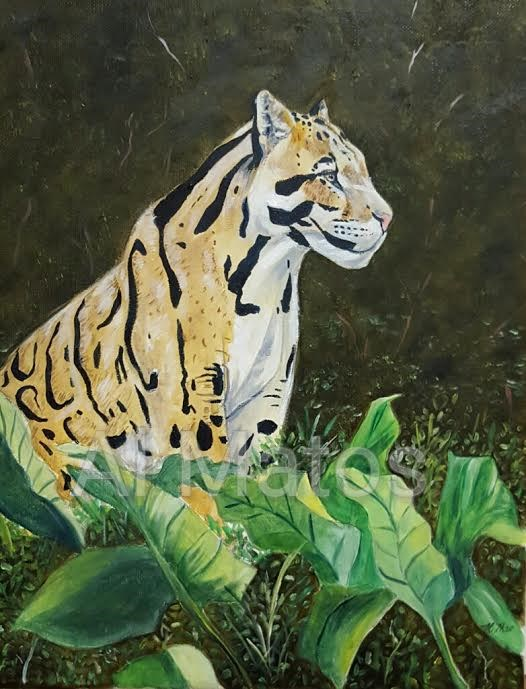 """The Ocelot Stare"" original fine art by Al Matos"