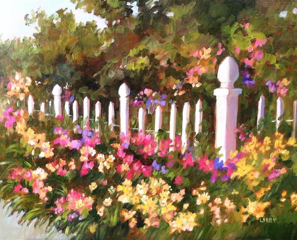 """Yellow Promenade"" original fine art by Libby Anderson"