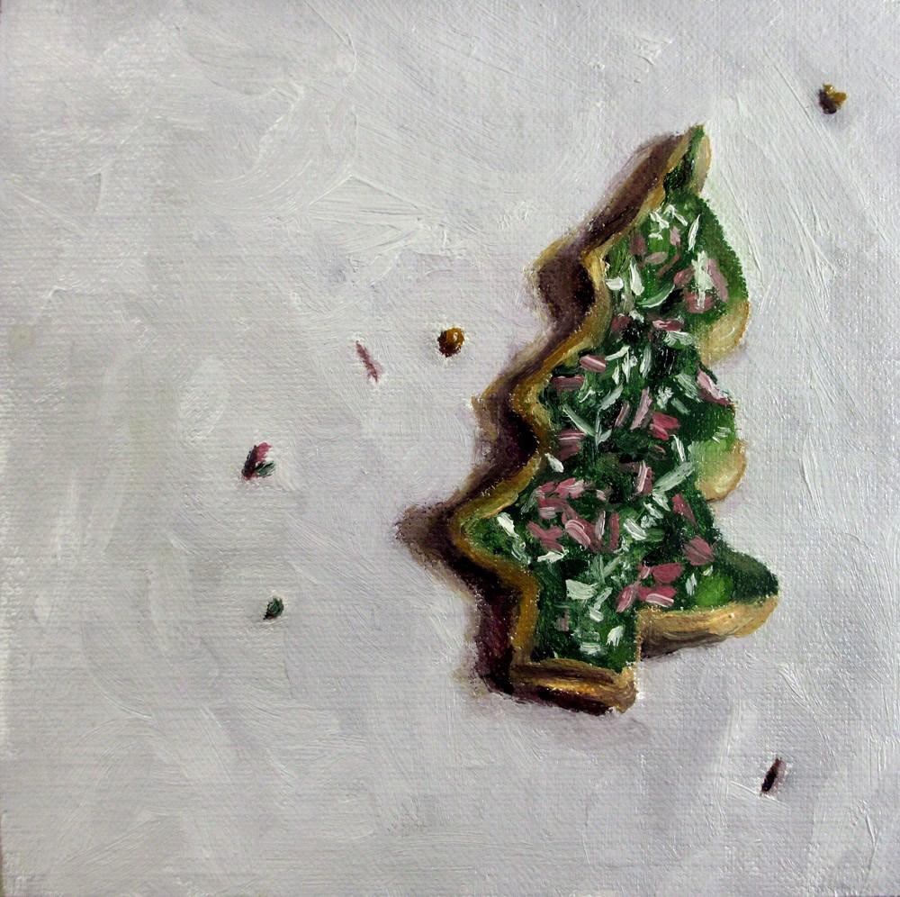 """""""Christmas Tree Biscuit"""" original fine art by Ulrike Miesen-Schuermann"""