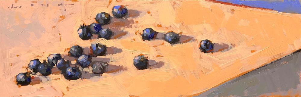 """Nineteen Blueberries"" original fine art by Christopher Long"