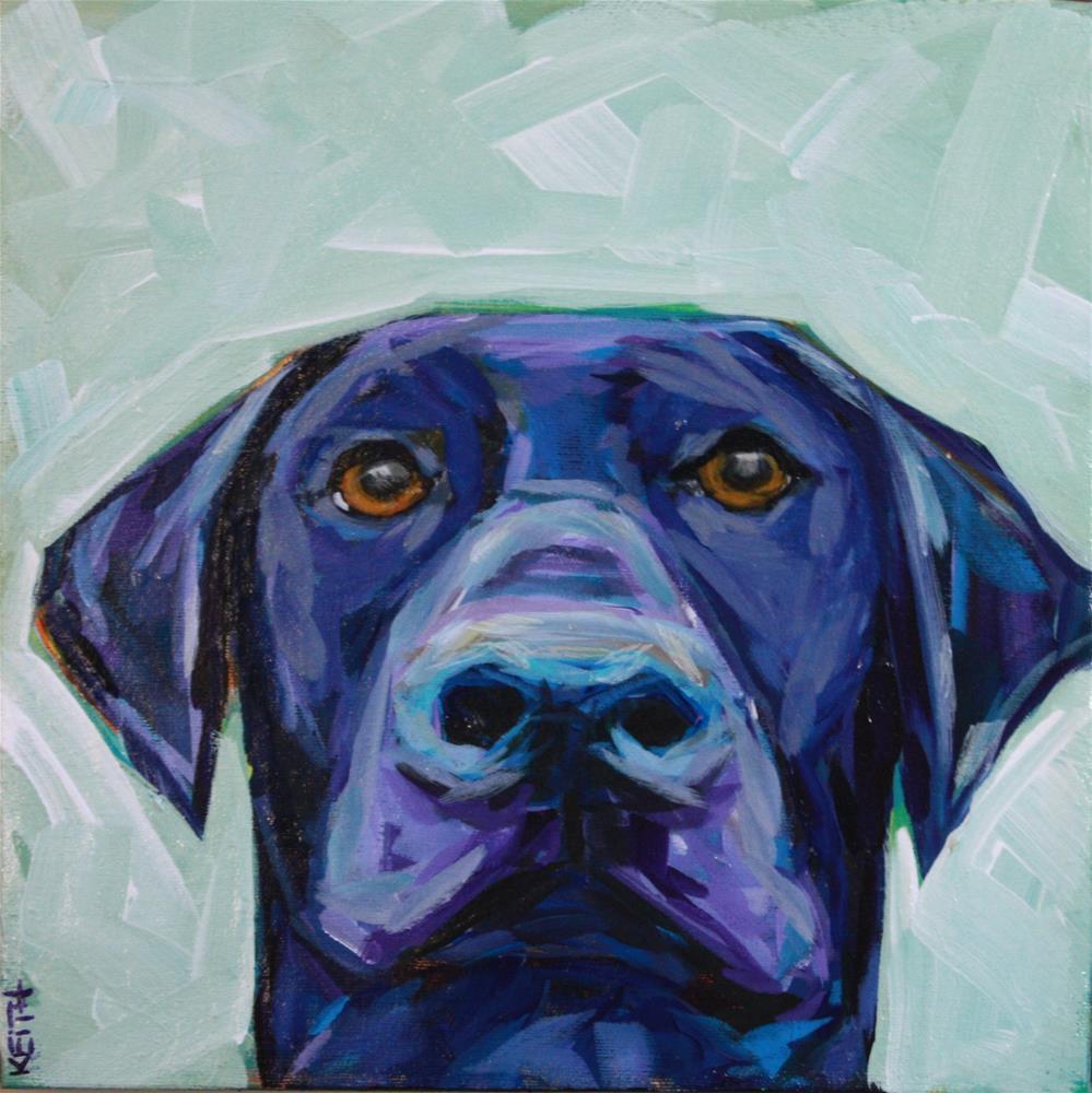 """Black and Blue"" original fine art by Kandice Keith"
