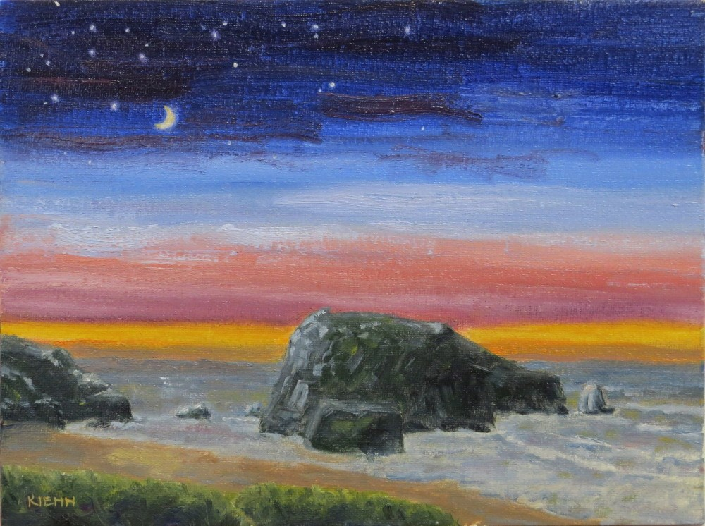 """Night Setting In"" original fine art by Richard Kiehn"