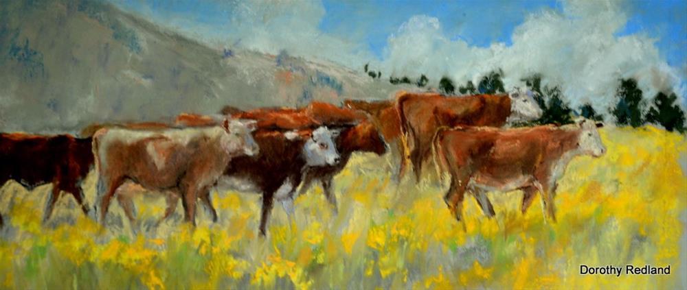 """Summer Pastures"" original fine art by Dorothy Redland"