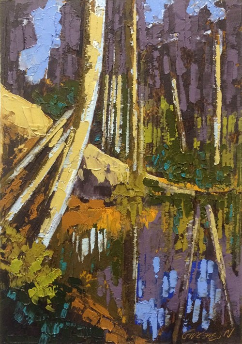 """""""Flooded Bank"""" original fine art by Mary Gilkerson"""