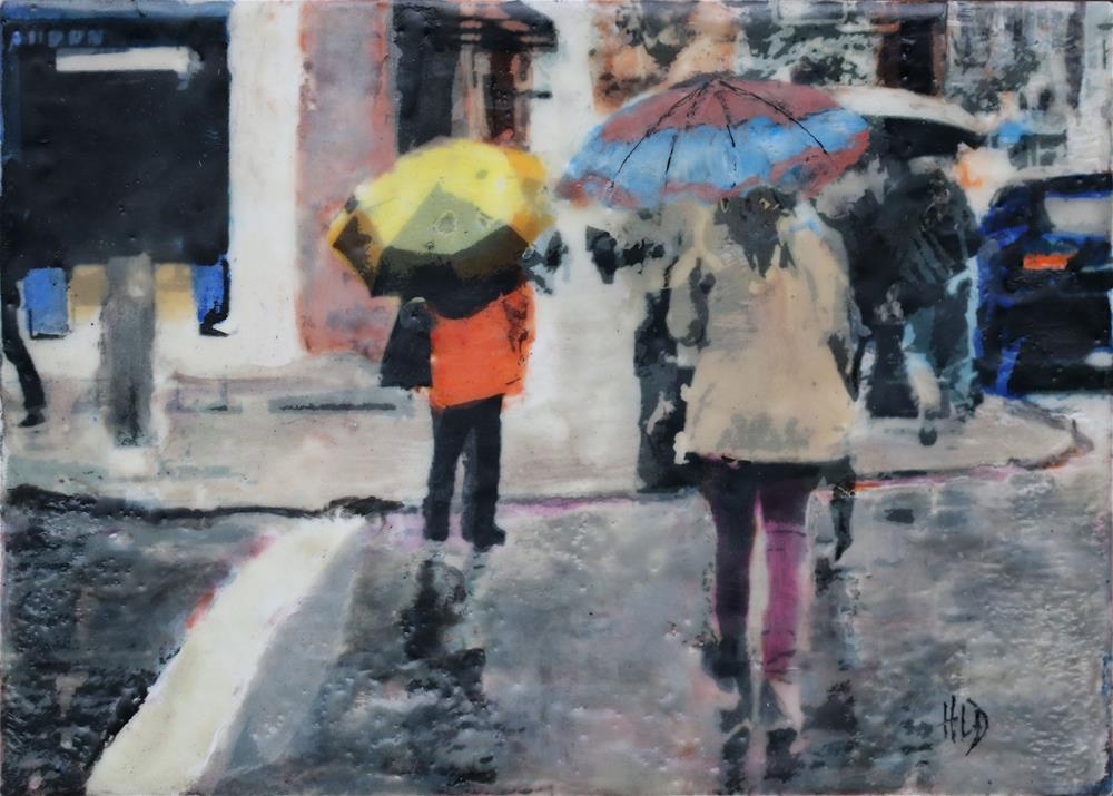 """City Rain II"" original fine art by Heather Douglas"