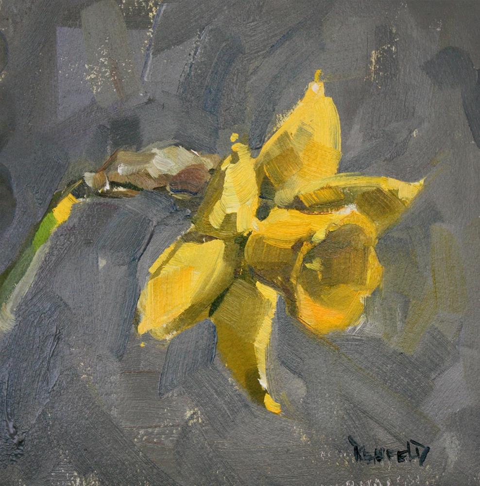"""Daffodil"" original fine art by Cathleen Rehfeld"