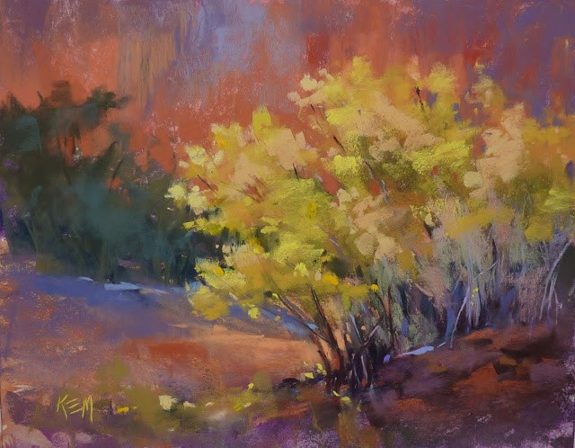 """""""Tips for Working with Yellow Pastels"""" original fine art by Karen Margulis"""