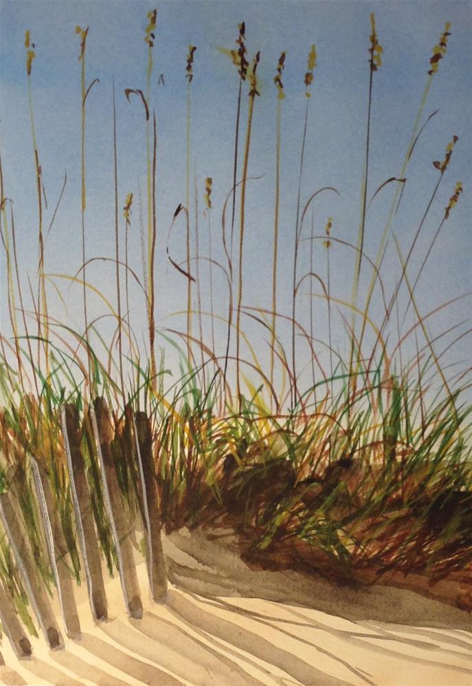"""Last Day on the Beach"" original fine art by Linda Lowery"