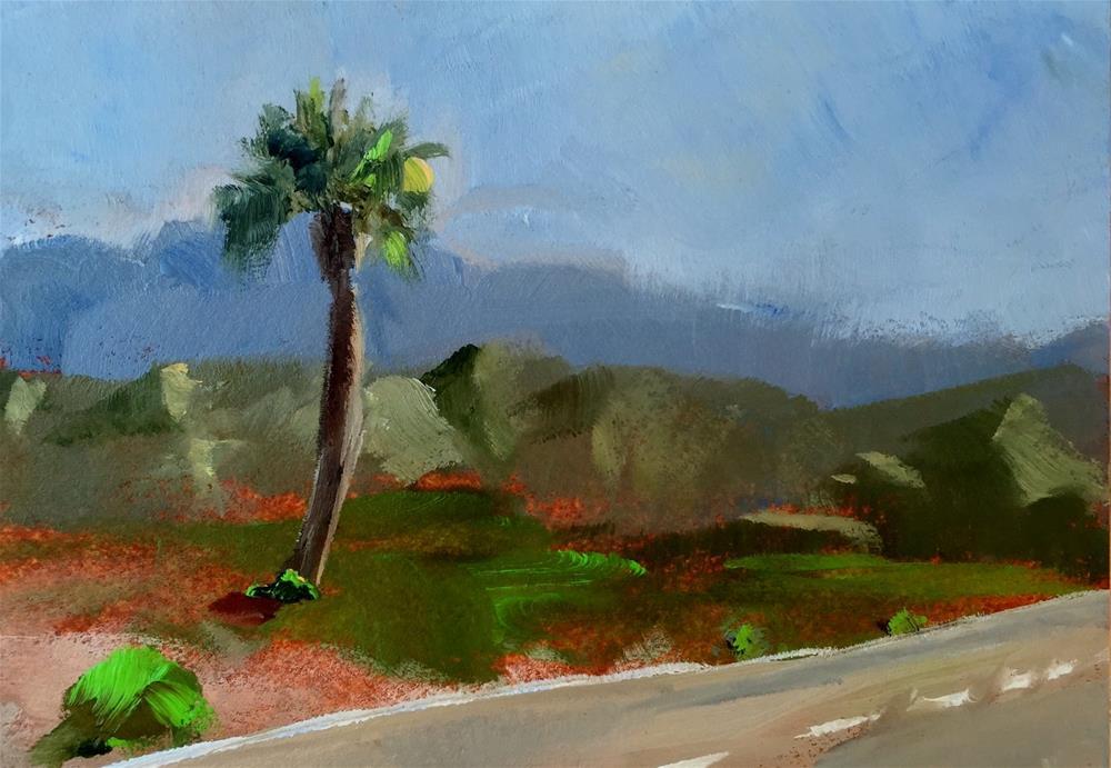 """Palm Springs Roadside"" original fine art by Gary Bruton"