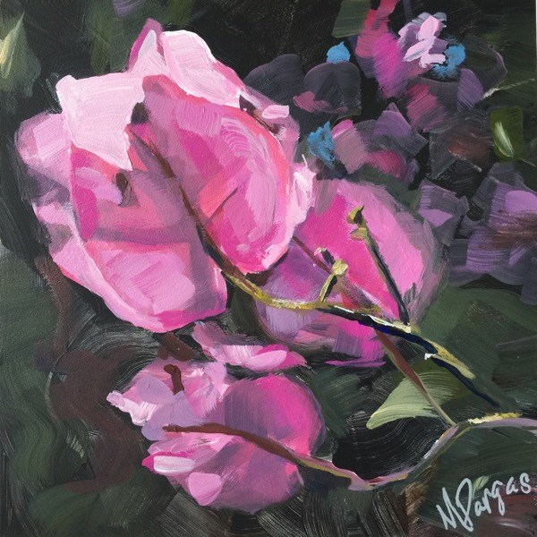 """Pink Bougainvillea"" original fine art by Mary Pargas"