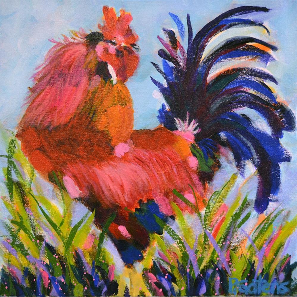 """Chicken Delight"" original fine art by Pamela Gatens"