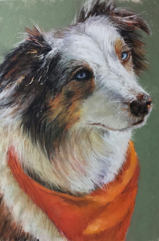 """Cow Dog"" original fine art by Denise Beard"