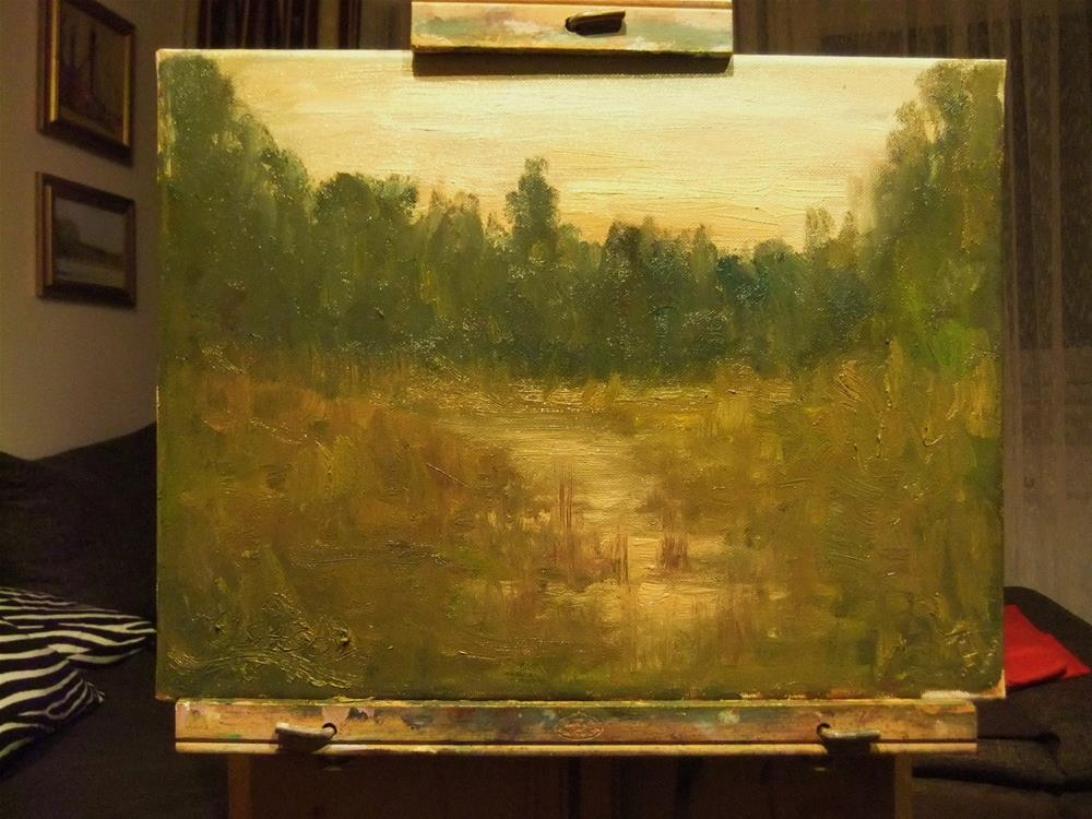 """At dusk"" original fine art by Michael Sason"