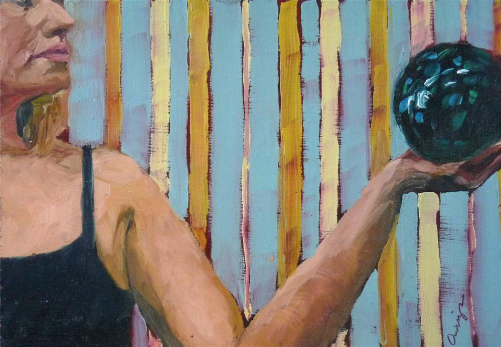 """""""Sarah Sphere 3"""" original fine art by Sharman Owings"""