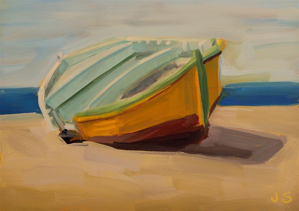 """Abandoned Boat"" original fine art by Jamie Stevens"
