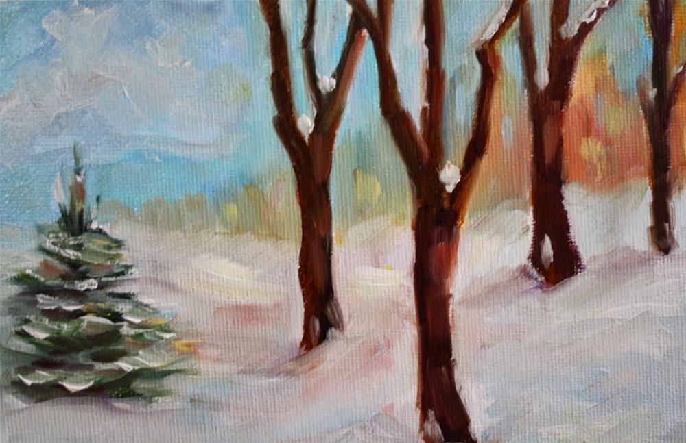 """In your own backyard"" original fine art by Maggie Flatley"