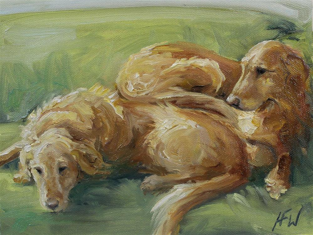 """""""The Sunny End of the Couch"""" original fine art by H.F. Wallen"""