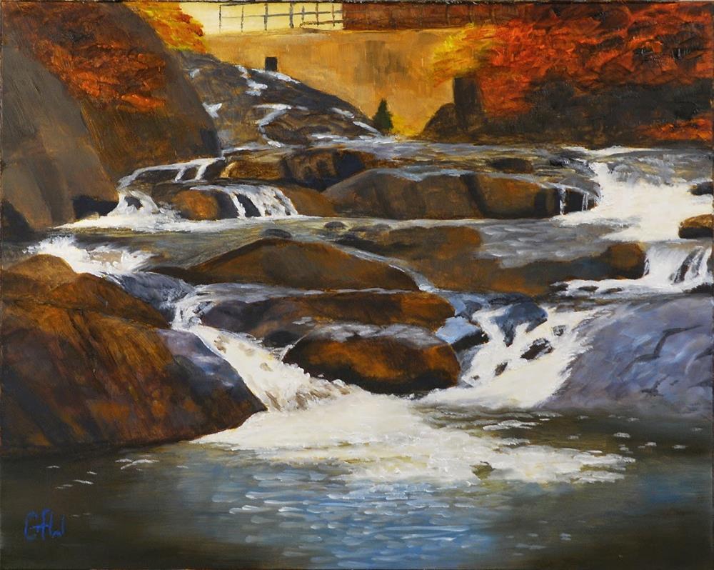 """Below the Dam at Cordova Lake"" original fine art by Gary Westlake"
