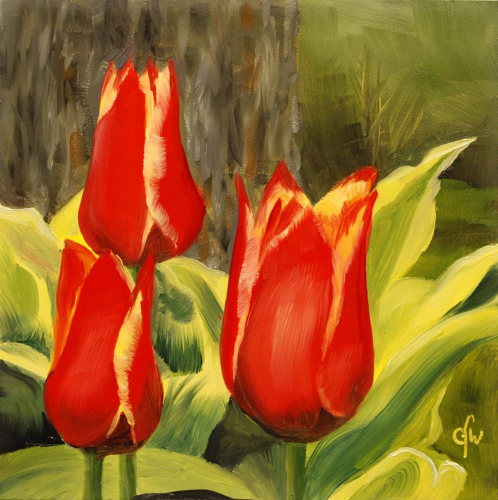 """Red and Yellow Tulips"" original fine art by Gary Westlake"