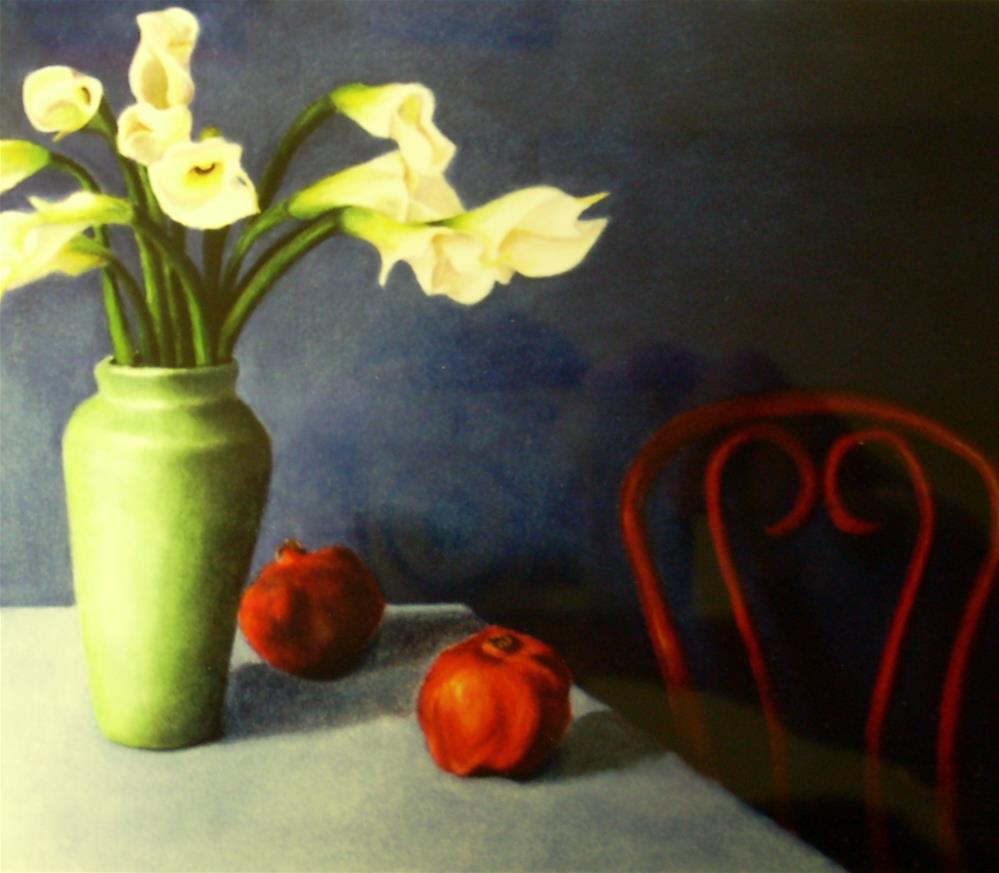 """""""Red Chair"""" original fine art by Karen Collins"""