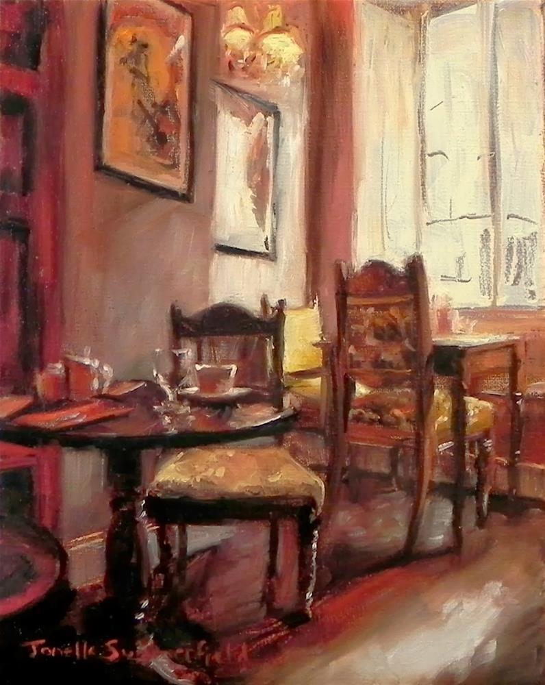"""""""Cozy Cafe"""" original fine art by Jonelle Summerfield"""