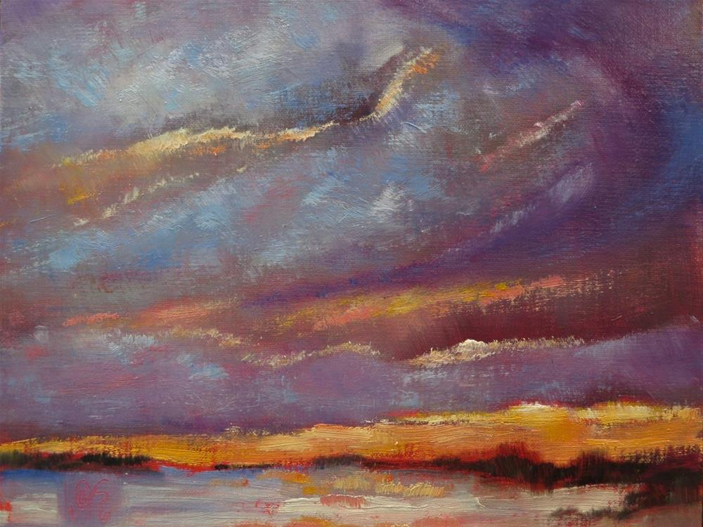 """Golden Marsh"" original fine art by Aurelio Saiz"