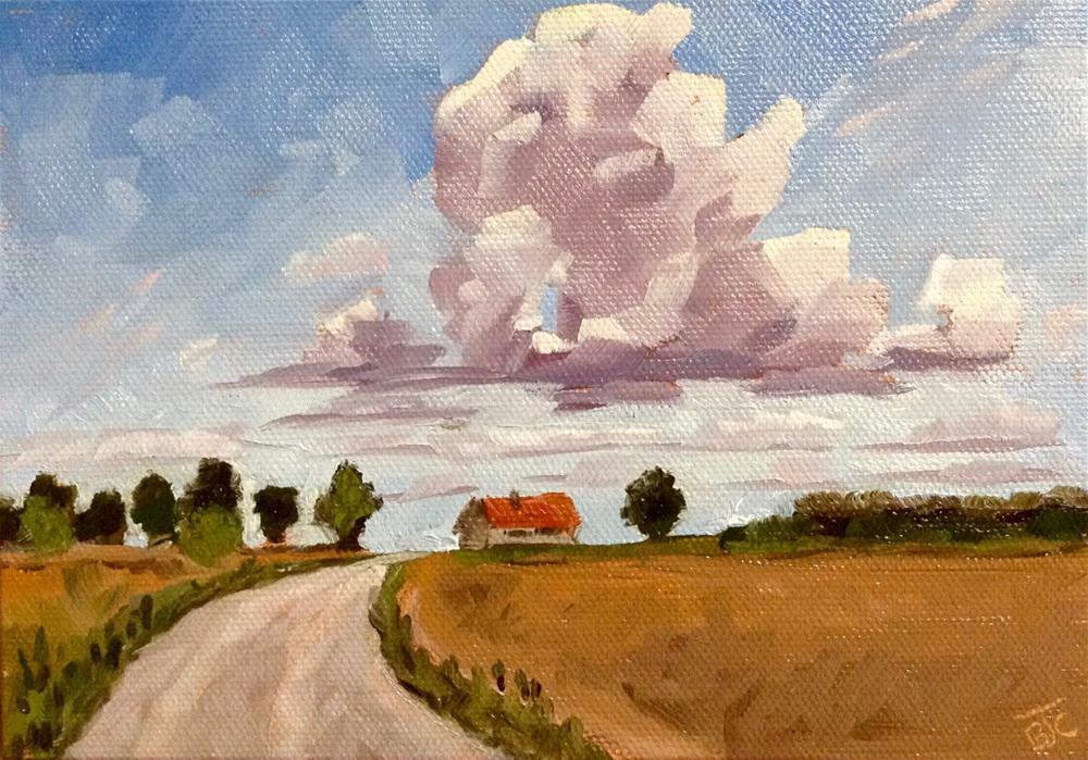 """""""Chasing Clouds"""" original fine art by Bobbie Cook"""