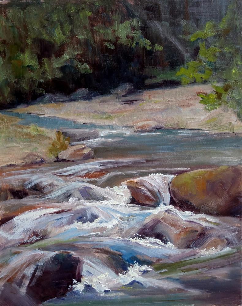 """""""Cool River"""" original fine art by Sheila Marie"""