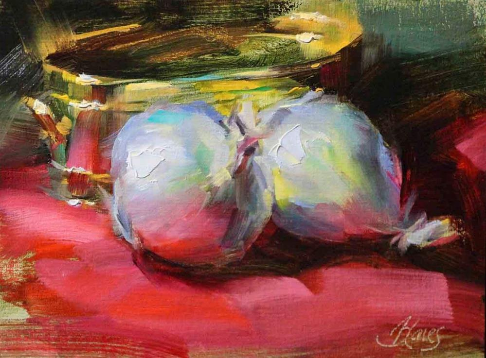 """Onions and Brass"" original fine art by Pamela Blaies"