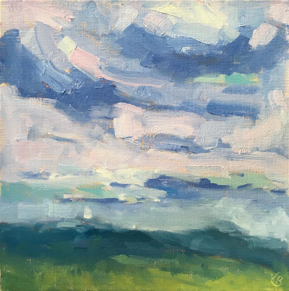 """Rain is Coming"" original fine art by Victoria  Biedron"