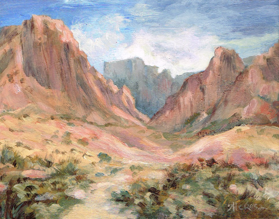 """Big Bend Window, Back View"" original fine art by Theresa Taylor Bayer"
