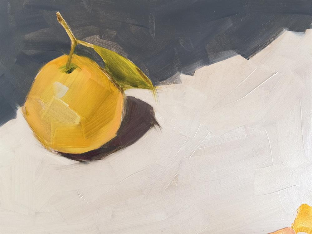 """218 Round Lemon"" original fine art by Jenny Doh"