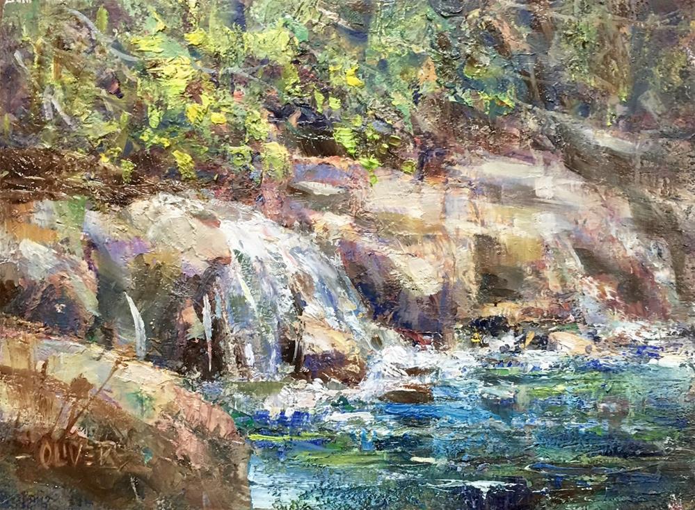 """""""Spring Run-off"""" original fine art by Julie Ford Oliver"""