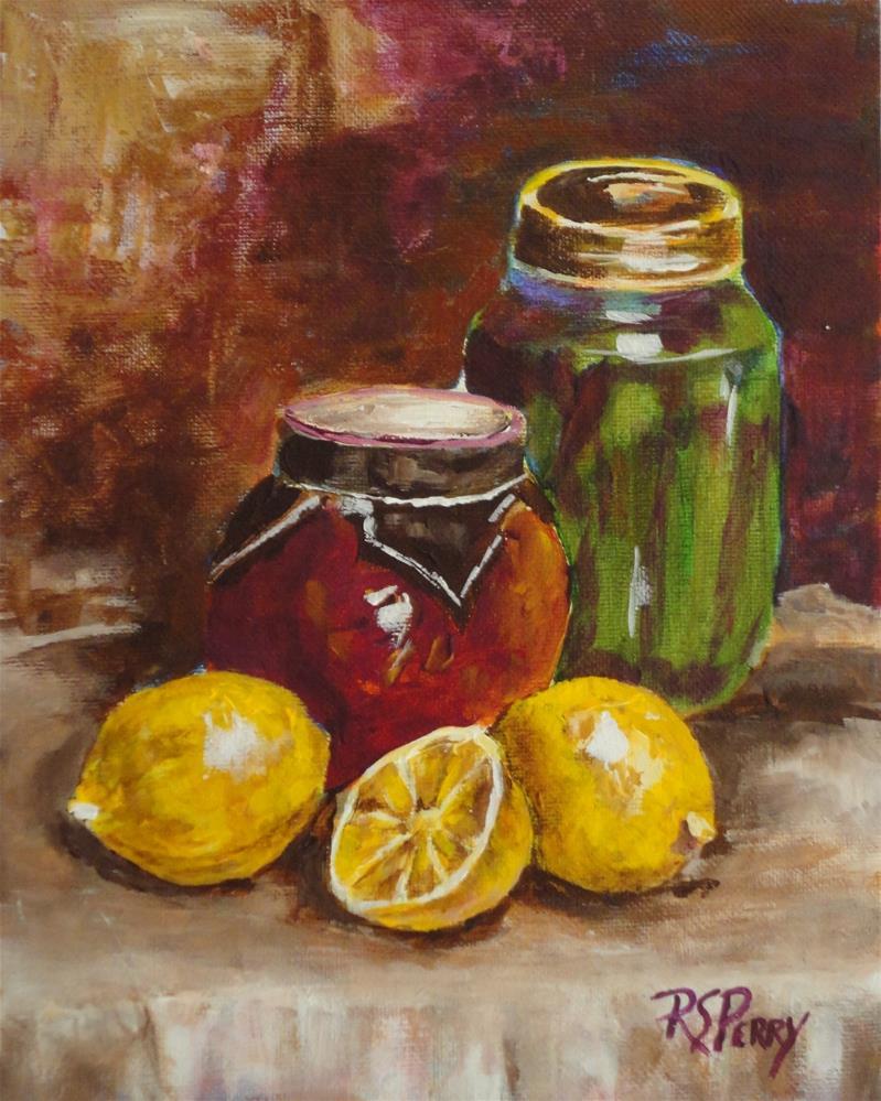 """Lemons and Jars"" original fine art by R. S. Perry"