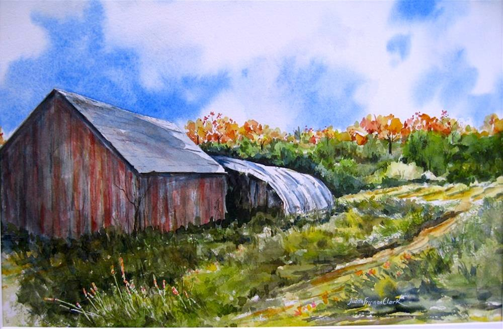 """Rural Scene"" original fine art by Judith Freeman Clark"