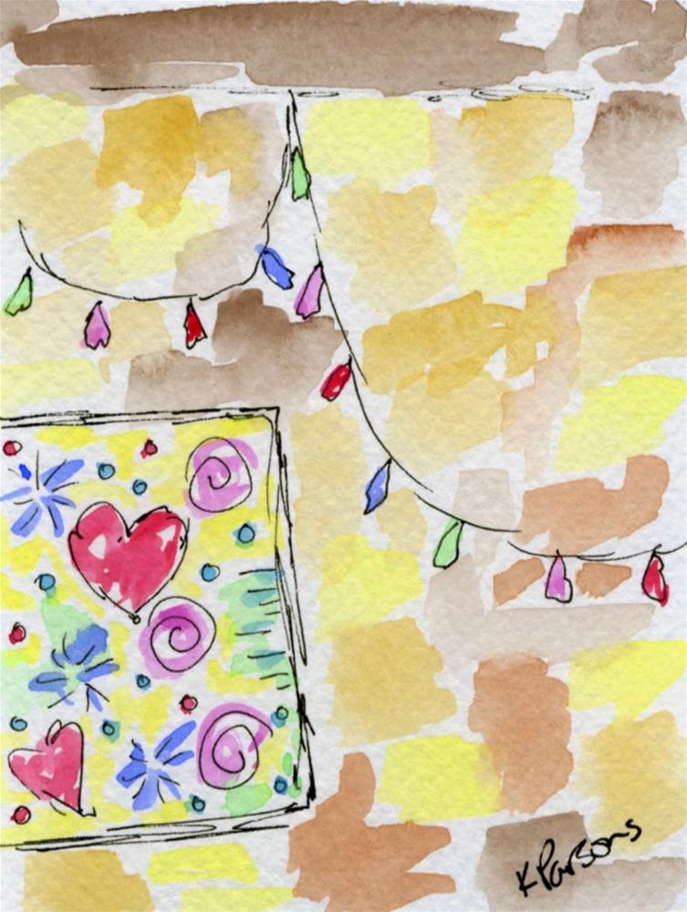 """Christmas All Year Long"" original fine art by Kali Parsons"