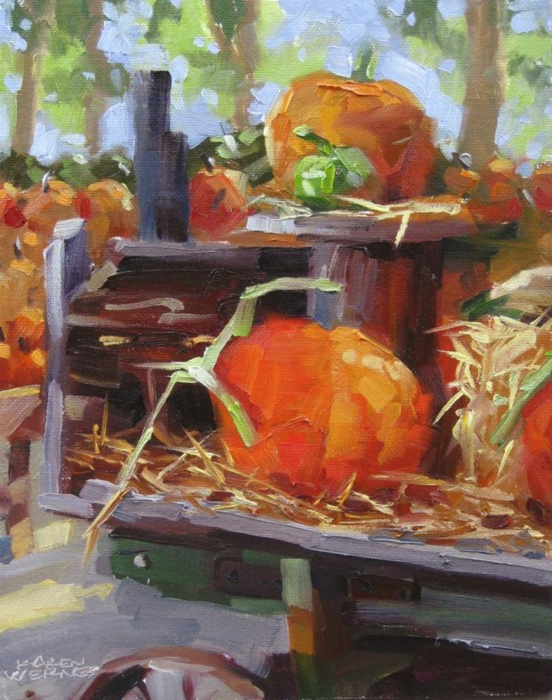 """Pumpkin Patch"" original fine art by Karen Werner"