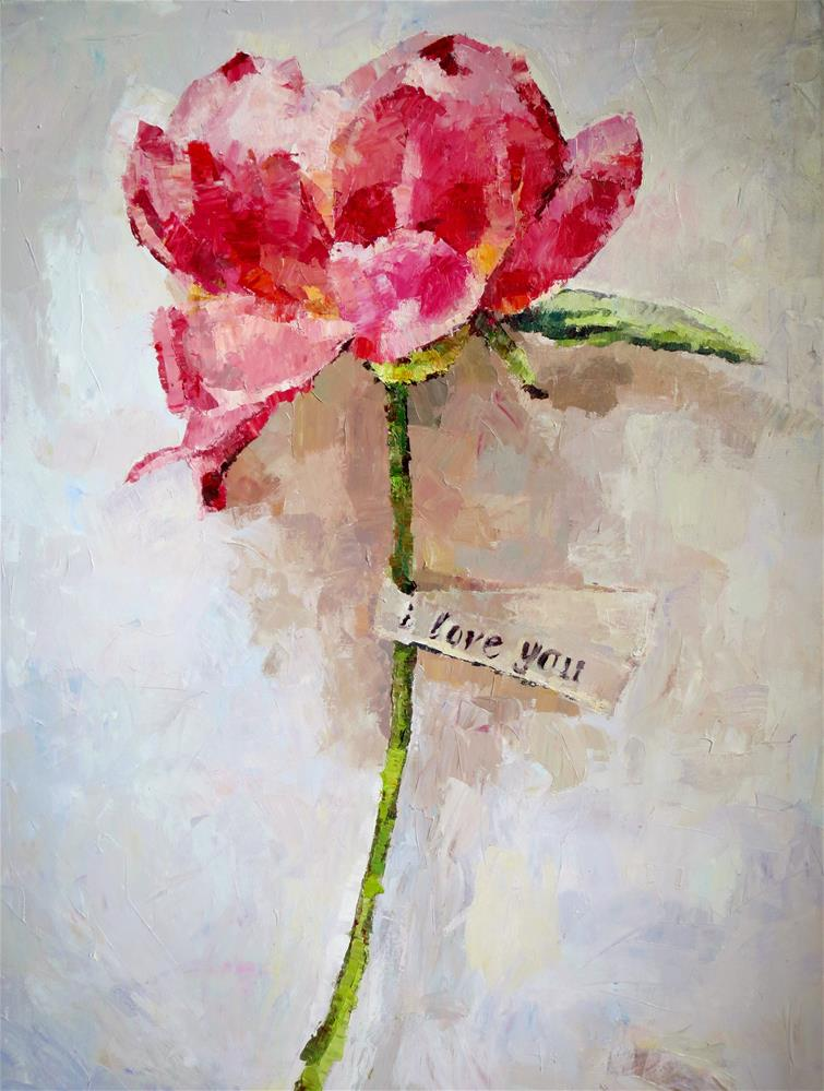 """""""Say it with a Flower"""" original fine art by Nava Judith"""