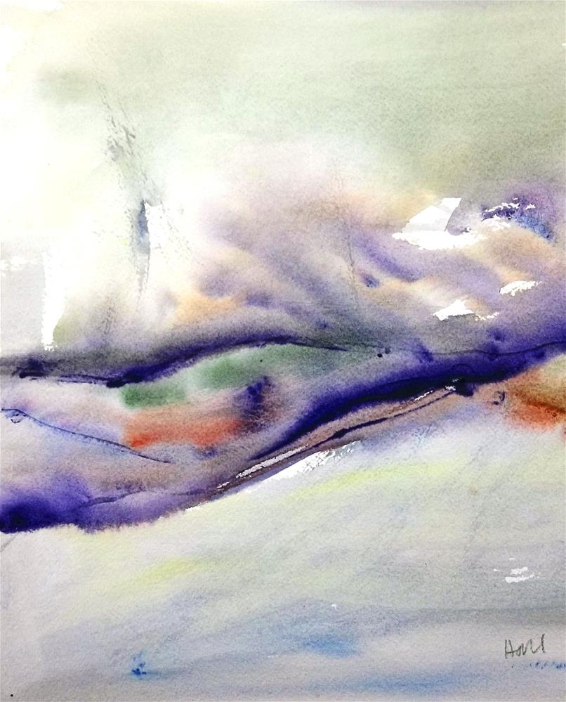 """Northern Lights"" original fine art by Nancy Hall"