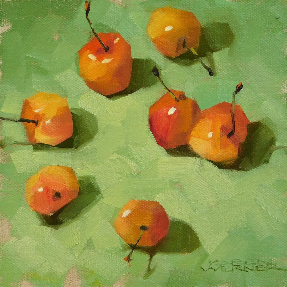 """""""Rainiers On Green"""" original fine art by Karen Werner"""
