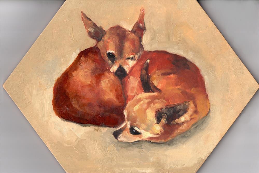 """All Curled Up"" original fine art by Marlene Lee"