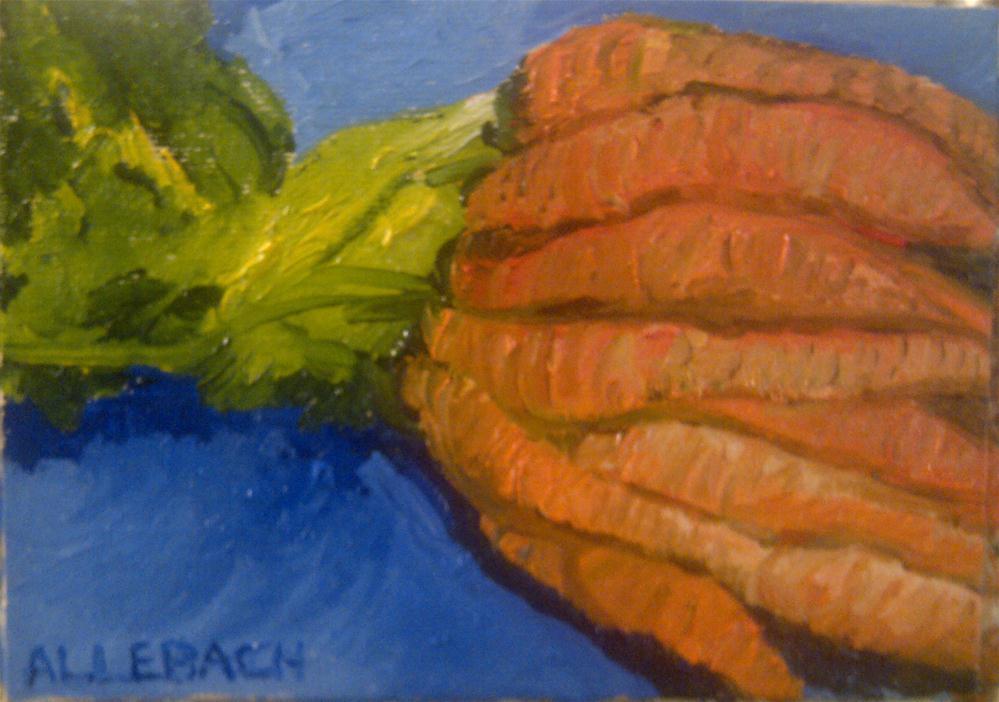 """""""Carrots"""" original fine art by Jo Allebach"""