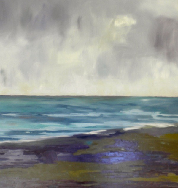 """Large Landscape-Seascape"" original fine art by Janet Bludau"