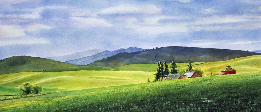 """Palouse Springtime (prints avail)"" original fine art by Andy Sewell"