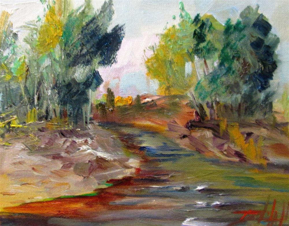 """Stream in the Woods"" original fine art by Delilah Smith"