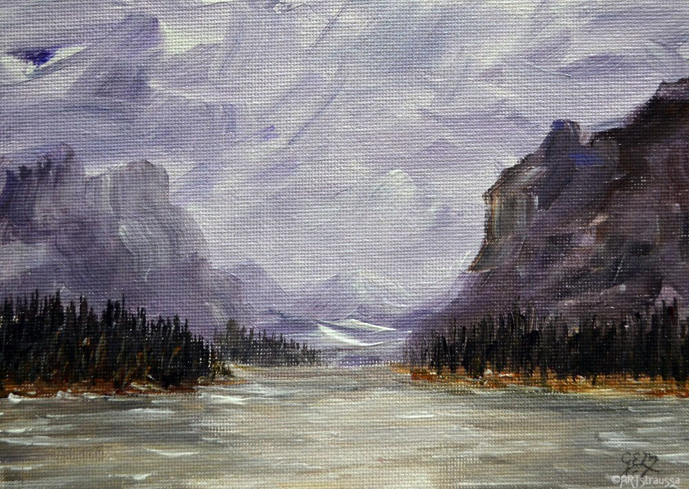 """Maligne Valley"" original fine art by Gloria Ester"